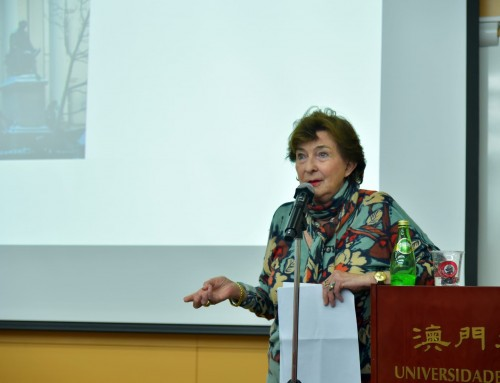 Holocaust survivor Eva Koralnik gives a talk at UM
